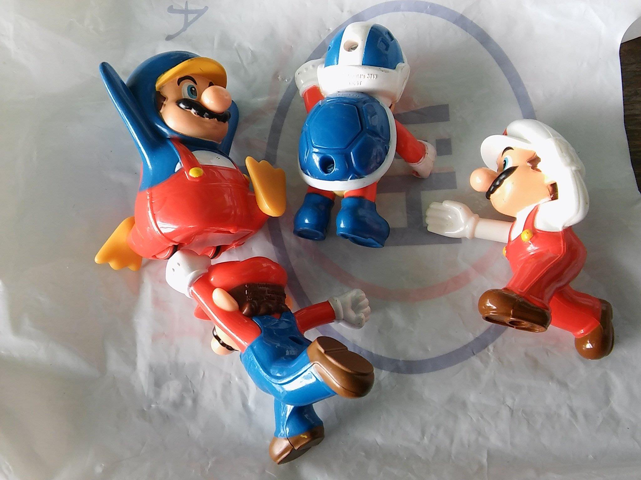 2015麥當勞與Nintendo任天堂各種造型的硬質塑膠馬力歐4隻合售