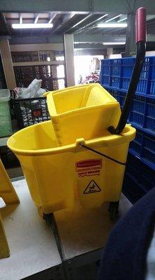 ㊖華威搬家=更新二手倉庫㊖清潔車脫把桶 多用途清潔雜物車非好神托 單桶榨水車黃脫水乾傷夜飯店