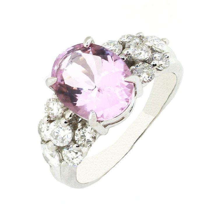 【JHT 金宏總珠寶/GIA鑽石專賣】1.85ct天然摩根石鑽戒/材質:PT900(JB41-D30)