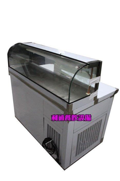 《利通餐飲設備》 四尺展示冰箱 卡布里冰箱  管冷