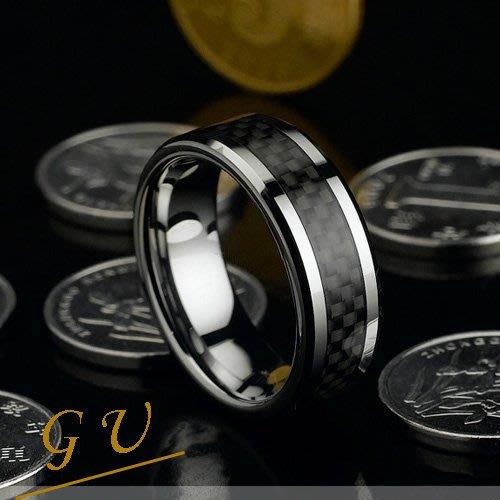 【GU】W03 男友生日情人禮物男戒  超越銀戒指白金鎢鋼鈦鋼西德鋼戒 Agloce  碳纖烏玄戒指
