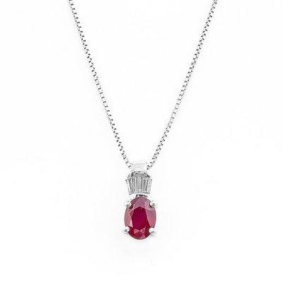 【JHT 金宏總珠寶/GIA鑽石專賣】1.09ct天然紅寶鑽墜/材質:18K(R00030)