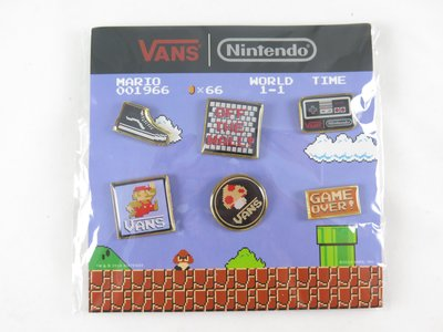 【iSport愛運動】 VANS x Nintendo 任天堂 瑪利歐聯名款 徽章 正品 Z0007