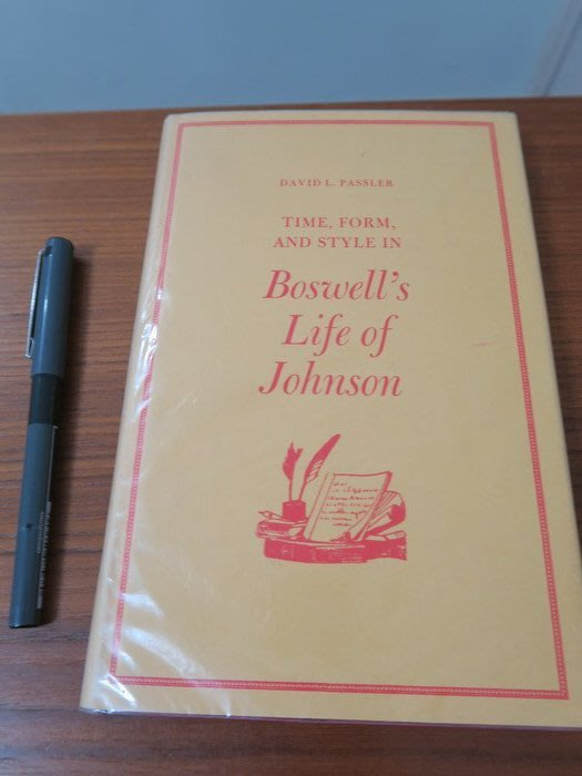 【英文舊書】[評論]Time, Form and Style in Boswell's Life of Johnson