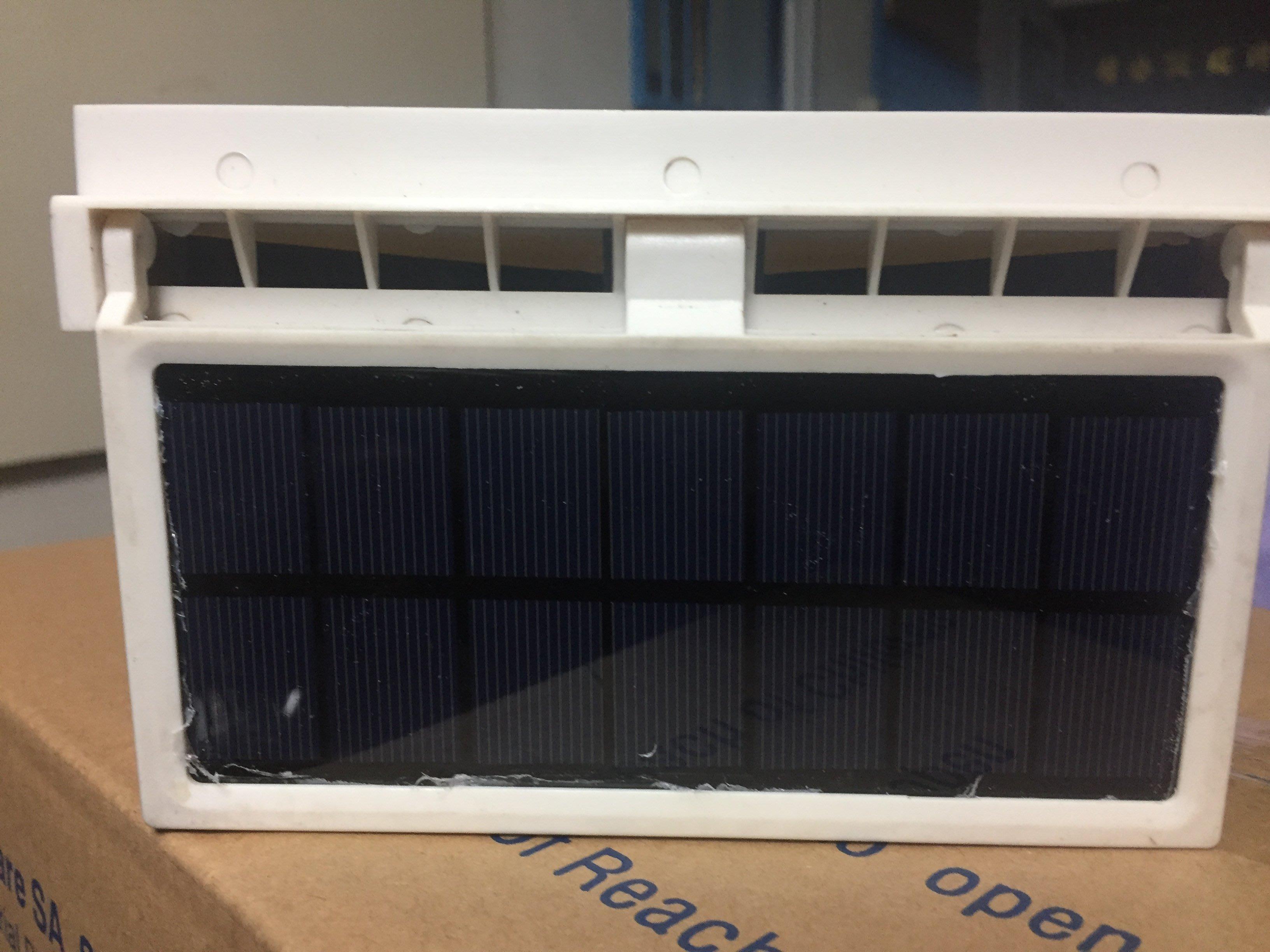 太陽能汽車排風扇 太陽能汽車散熱器 內置充電池 雙換氣散熱風扇