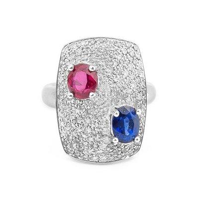 【JHT 金宏總珠寶/GIA鑽石專賣】1.22ct天然藍寶造型鑽戒/材質:18K(S00006)