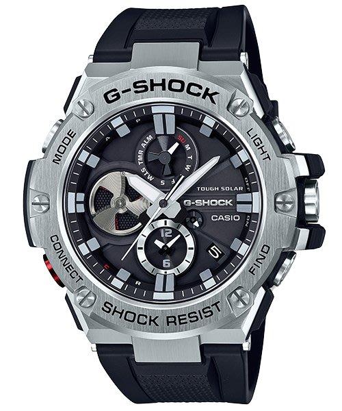 【金台鐘錶】CASIO卡西歐G-SHOCK 太陽能 強悍機能型 (藍芽) GST-B100-1A