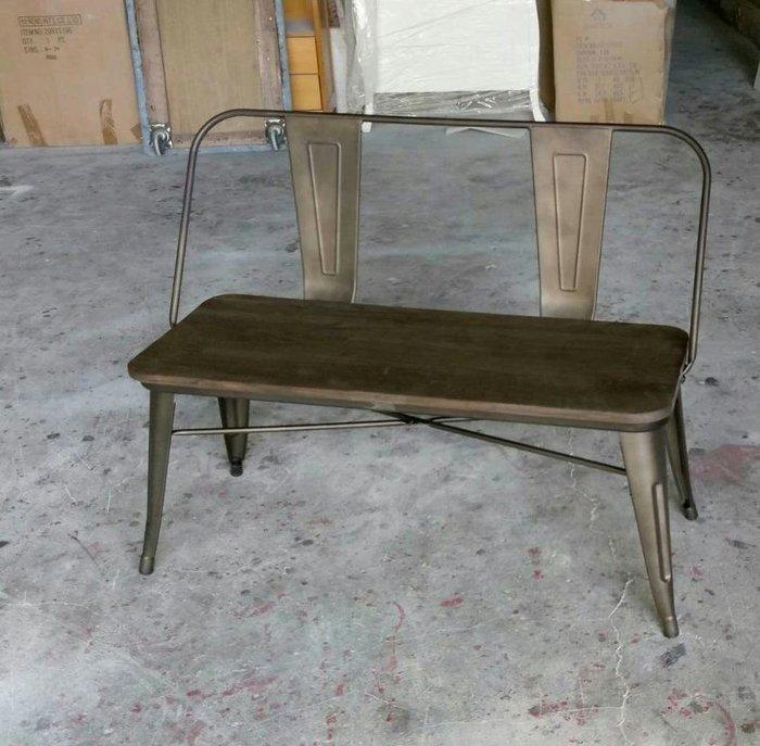 美生活館--全新 歐式古典美式工業風 LOFT 鐵藝 靠背雙人椅 情人椅 公園椅 玄關椅 店面 民宿餐廳 拍照居家庭園