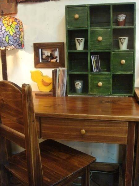原木工坊~原木家具訂製設計  十二格四抽小櫃