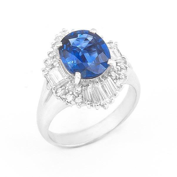 【JHT 金宏總珠寶/GIA鑽石專賣】3.07ct天然藍寶鑽戒/材質:PT900(S00010)