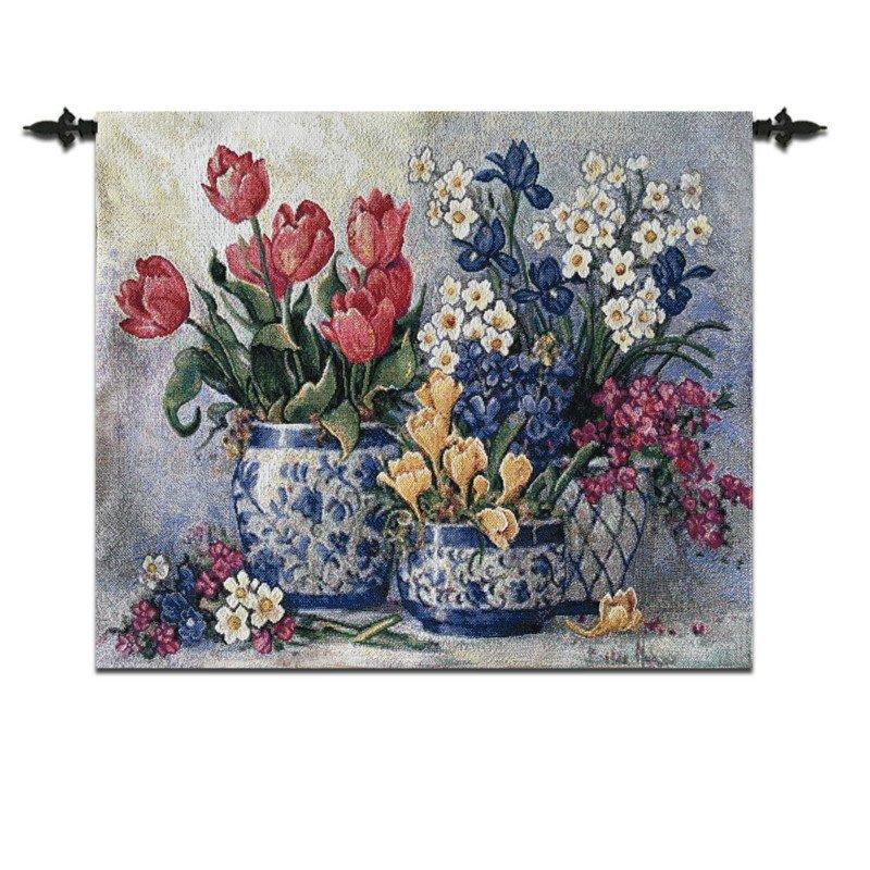 ❀蘇蘇購物館❀比利時掛毯 配電箱壁畫 電錶箱遮擋 裝飾 青瓷花盆 布藝毯