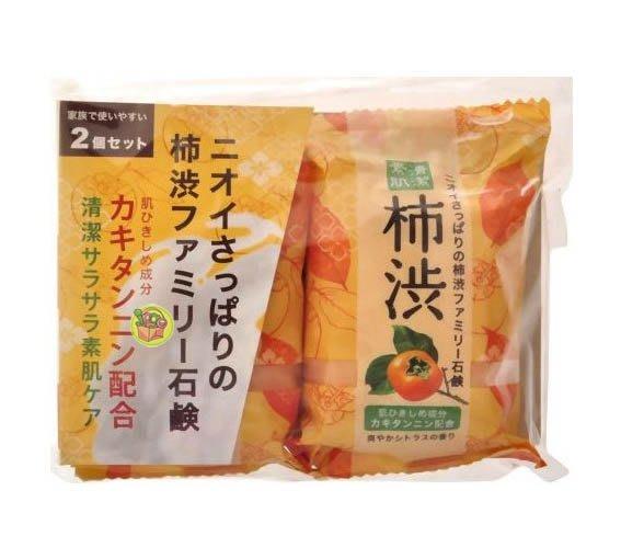 【JPGO日本購 】日本製 Pelican 沐浴香皂肥皂 二入組~蜂蜜862/ 抹茶258/ 馬油923/ 柿子701