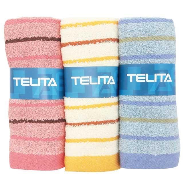 【TELITA】靚彩條紋易擰乾毛巾(超值9條組)--免運