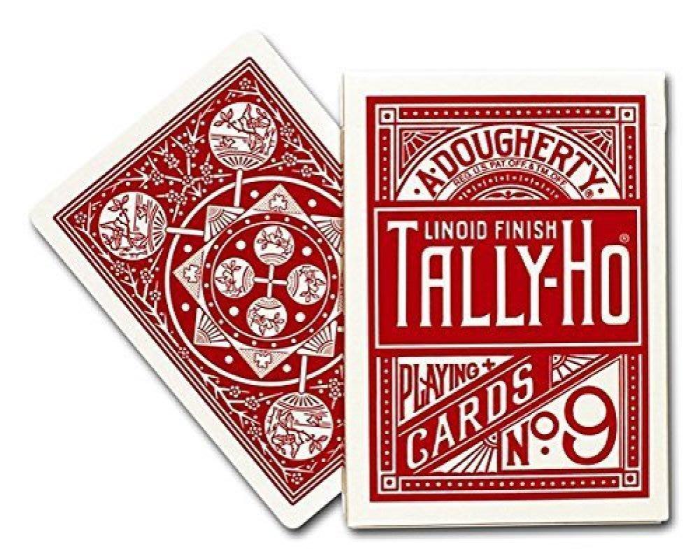 【USPCC撲克】TALLY-HO 撲克牌 9R14 扇紅藍背
