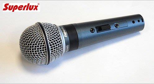 Superlux舒伯樂 PRO 248S專業人聲動圈麥克風  送166音效