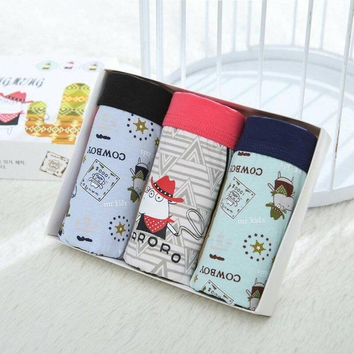 《琉璃的雜貨小舖》韓國 西部牛仔 純棉 男童四角內褲三件組