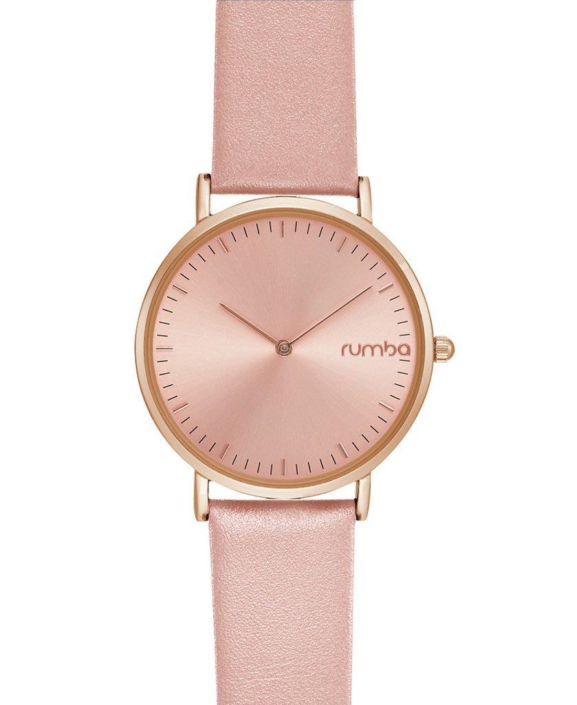 預購 美國 紐約 潮流 RUMBA TIME WATCH 全品項代購 柔和粉 36MM薄身皮帶手錶