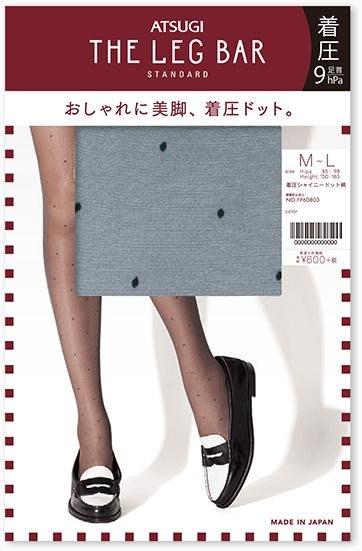 【拓拔月坊】厚木 THE LEG BAR STANDARD 著壓 水玉點點 絲襪 日本製~新款!