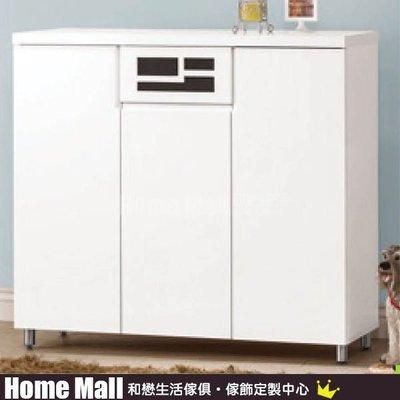 HOME MALL~布萊恩烤白4尺鞋櫃 $6400 (高雄市區免運費)4H