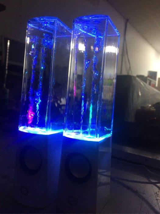 【鳥鵬電腦】CONCEPTRONIC CLLDWASPKW 水舞喇叭 白 USB供電 3.5mm 炫彩LED 檢磁認證