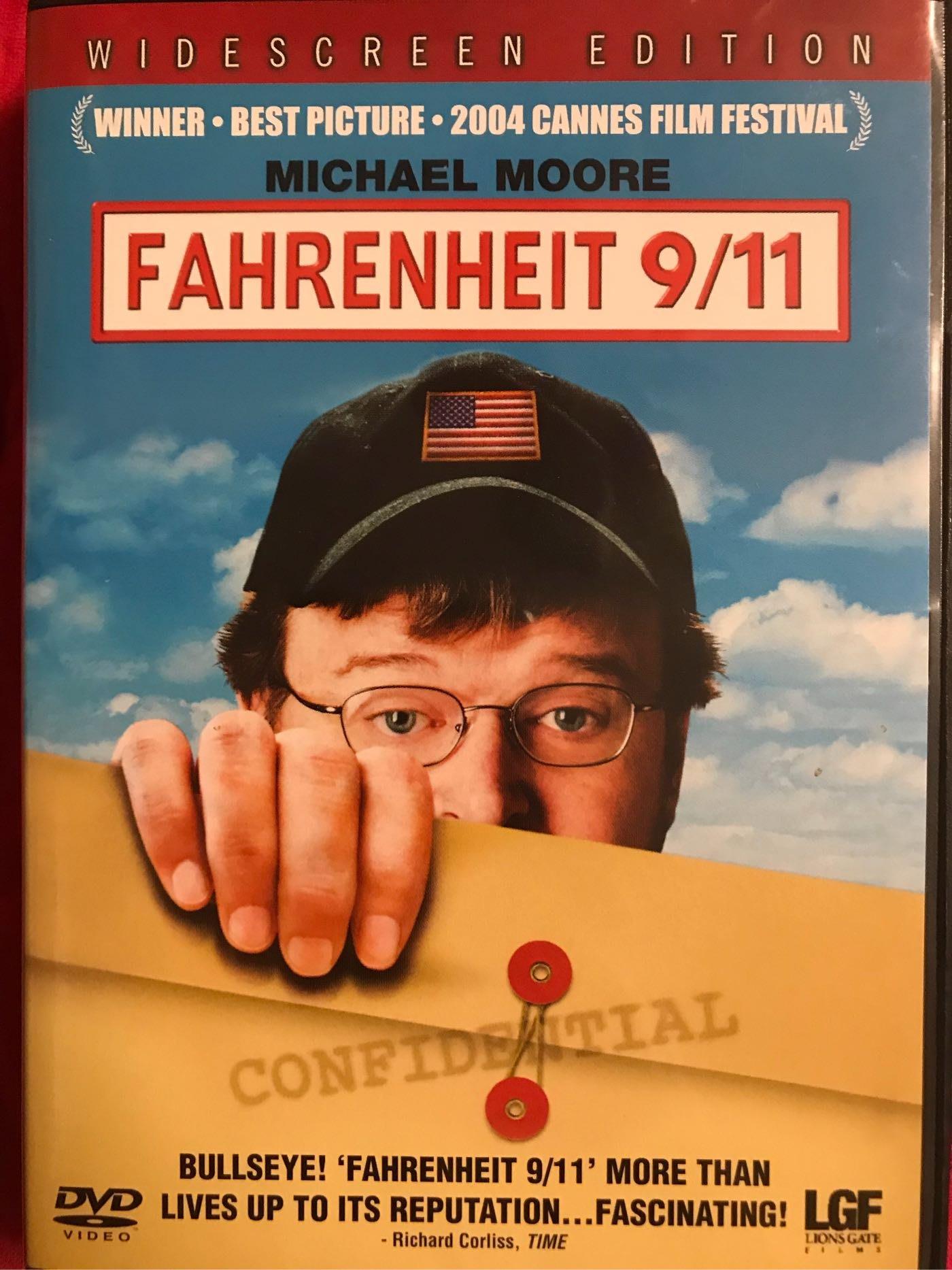 電影紀錄片《華氏911》,MICHAEL MOORE—FAHRENHEIT 9/11 (新加坡版,1 DVD)