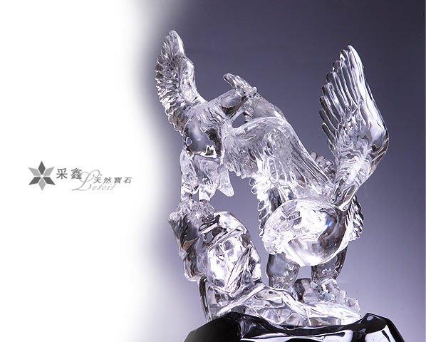 ☆采鑫天然寶石☆ **展翅** 頂級天然激光料白水晶雕件~極品珍藏