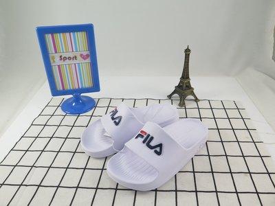【iSport愛運動】 FILA 完全防水拖鞋 復古經典 4S355Q113 白