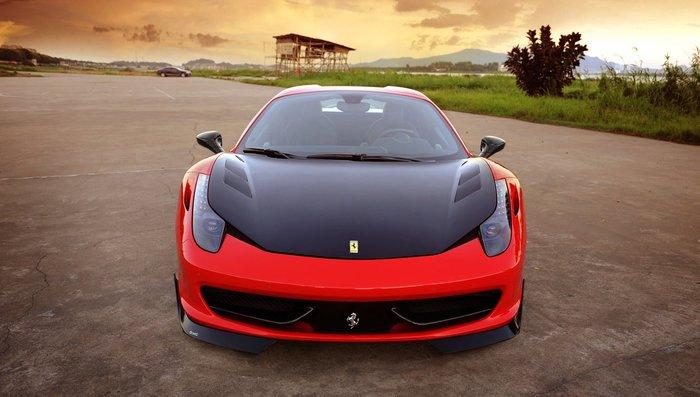 ~耀天國際~Ferrari 458 ltalia Spyder D款 抽真空 碳纖維 卡夢