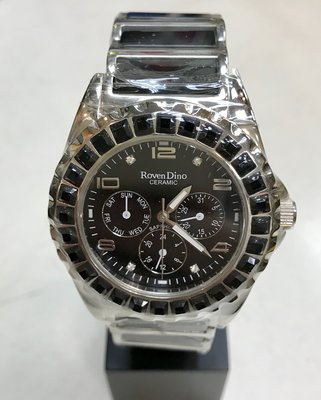 {FUAN}內湖實體店面 Roven Dino羅梵迪諾 時尚奢華腕錶 RD395-556  黑 一年保固 公司貨