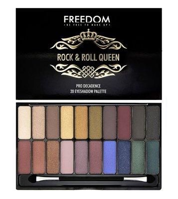 【愛來客 】英國Freedom Makeup  Palette - Rock & Roll 20色專業眼影盤