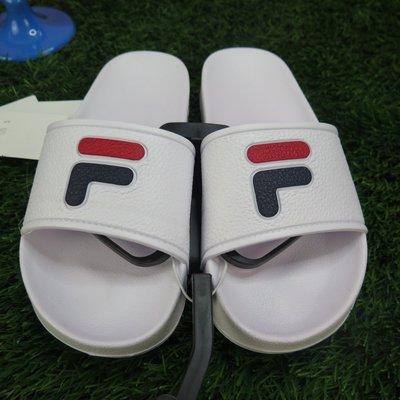 【iSport愛運動】 FILA 完全 防水拖鞋 復古經典 4S316S123 白