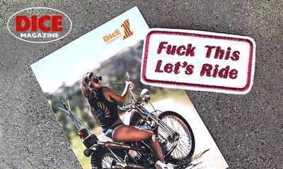 GOODFORIT / 美國DicE Magazine Stitched Patch瀟灑標語經典重機貼布