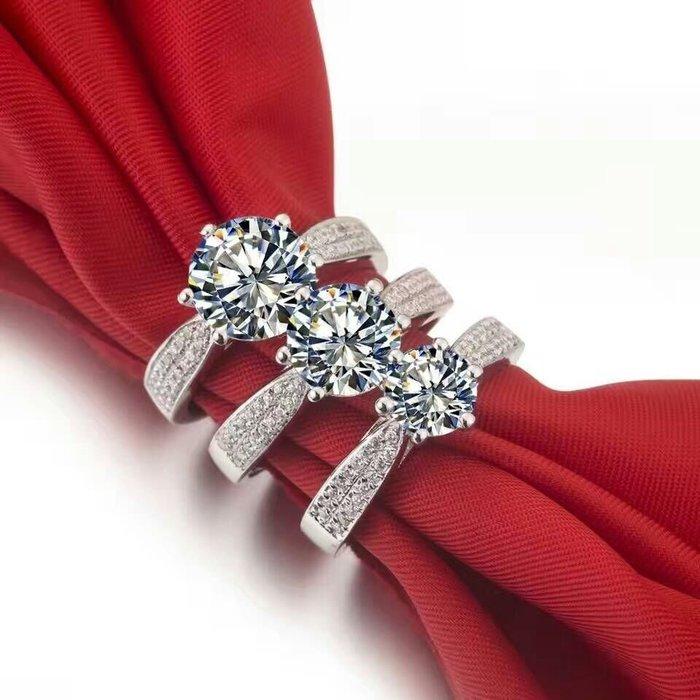 仿真鑽石高碳鑽戒十心十箭2克拉 星光微鑲戒臂肉眼難辨真假鉑金質感求婚訂婚結婚特價優惠 圓夢百年經典戒指鉑金質感 ZB鑽寶