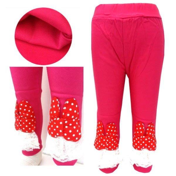 【班比納精品童裝】點點蝴蝶結蕾絲內搭褲-桃【BM150212011】