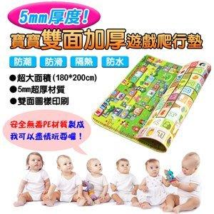 ~5mm厚度寶寶雙面加厚遊戲爬行墊 ST安全玩具   雙面圖案~大富翁 英文字母圖樣~戶外