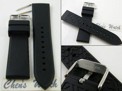 錶帶屋 20mm 22mm代用ZenWatch 勞力士 SEIKO FORTIS GP Gear S2樣式素面矽膠錶帶