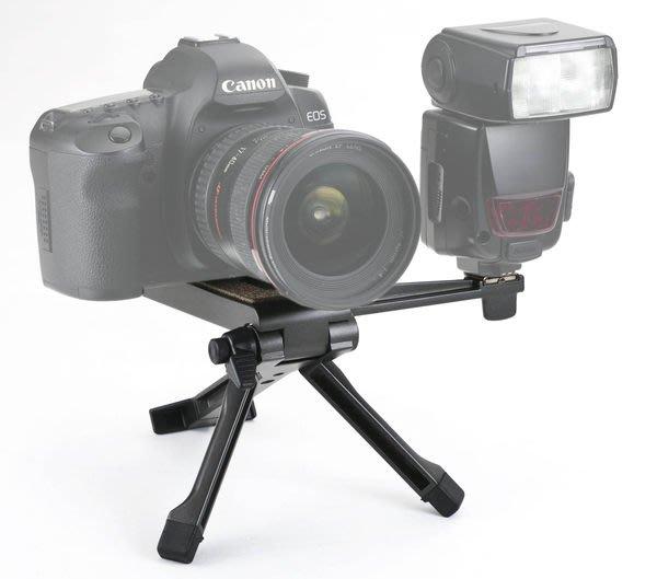 呈現攝影-SWALLOW 桌上型三腳架 低角度支架 簡易肩架 閃燈架 閃光燈 穩定架 錄影 載重2Kg