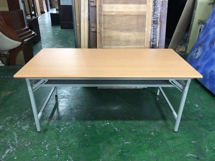 非凡二手家具 全新 木紋面3x6尺 折合會議桌*折合桌*折腳桌*長桌*工作桌*辦公桌*電腦桌*折疊桌*洽談桌