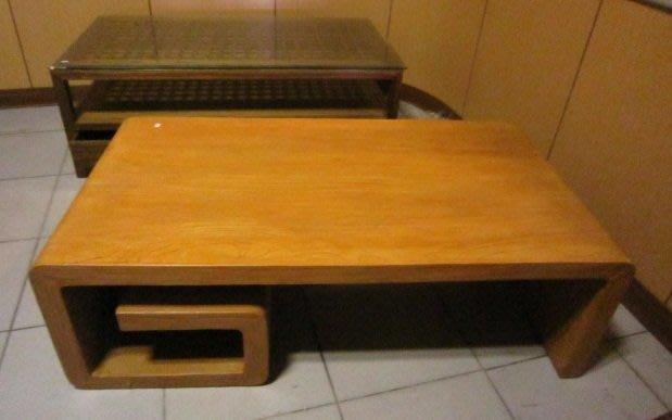 ㊖華威搬家=更新二手倉庫㊖G型風化茶几長方桌 實木中式明式~0036 寄倉收購回收家具家電辦公傢俱