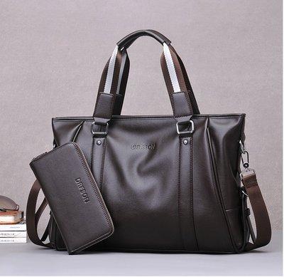 男包男手提包商務單肩包 公事包 挎包 男士斜跨包時尚潮流公文包電腦包 商務包 送手包