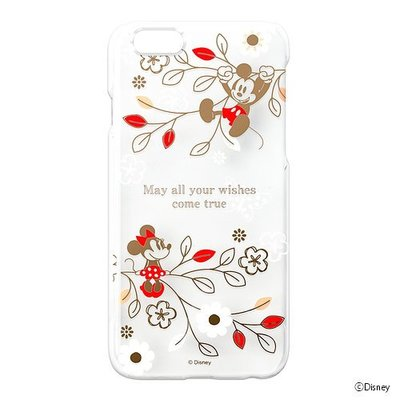 尼德斯Nydus~* 日本正版 迪士尼 米奇 x 米妮 透明 硬殼 手機殼 4.7吋 iPhone6