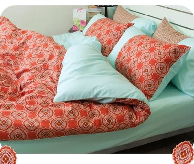 《特價品》-麗塔LITA- 40支精梳純棉【忘憂森林】雙人床包薄被套枕套四件組