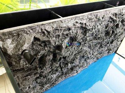@墨耘 水草造景@ UP雅柏 ㄇ型套缸2尺平面岩板/背部過濾+濾材+馬達/OT-BF-60/$1800