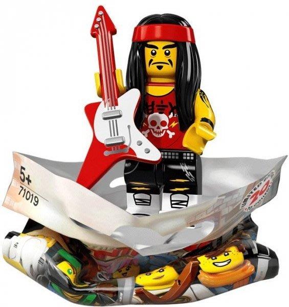 現貨【LEGO 樂高】積木 / 人偶包系列 忍者電影 71019 | #17 長髮搖滾手+電吉他 Rocker