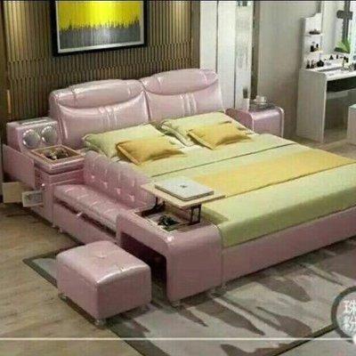 Ruby house雙人皮床~榻榻米床多功能收納儲物雙人床~雙人皮床架~