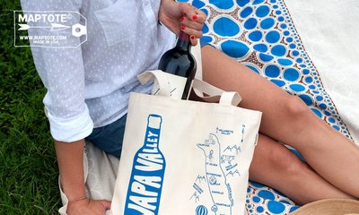 GOODFORIT / 紐約MAPTOTE城市雙入紅白酒香檳托特Napa Valley Double Wine Tote