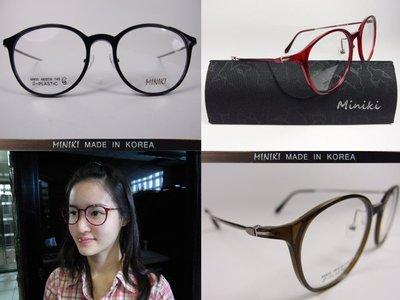 【信義計劃眼鏡】MINIKI 光學眼鏡 塑鋼材質框面 金屬腳圓框 超越 Rior ACQ 寶島 小林 得恩堂 Rior