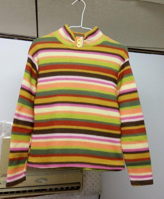 ╭°~幸福愛麗絲~°╮配色條紋內刷毛長袖上衣 rainbow lulus joyce sh