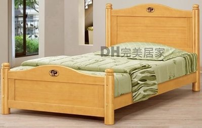 【DH】貨號G162-1《伊諾》3.5尺檜木單人床架˙沉穩舒適˙附四分板˙質感一流˙主要地區免運