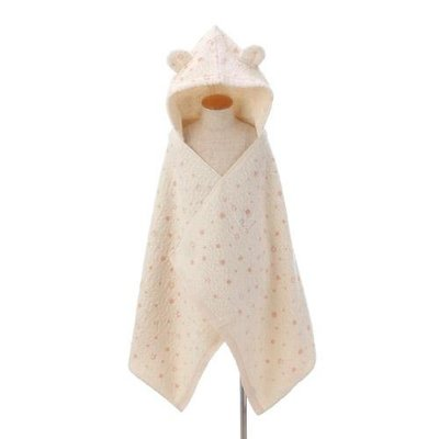 尼德斯Nydus 日本正版 嬰兒用品 浴巾 連帽浴巾 包巾 睡衣 睡袍 日本製 熊熊 兔兔